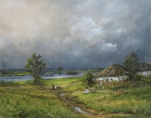 """Елена Кацевал """"На хуторе перед грозой"""". Сайт художника Елены Кацевал."""