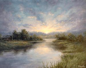 "Елена Кацевал ""Вечер на реке"". Сайт художника Елены Кацевал."