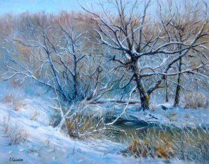 """""""Лесная жизнь"""" холст, масло. Пейзаж. Сайт художника Елены Кацевал."""