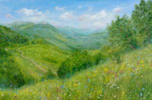 """""""В горах"""" холст, масло. Пейзаж. Сайт художника Елены Кацевал."""