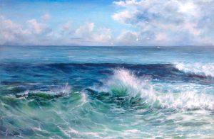 """""""Морская симфония"""" холст, масло. Морской пейзаж. Сайт художника Елены Кацевал."""