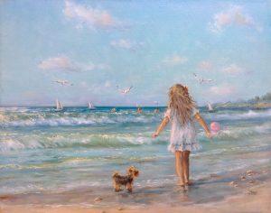 """""""Морские мгновения"""" холст, масло. Морской пейзаж. Сайт художника Елены Кацевал."""