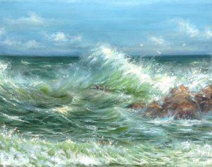 """""""Морское настроение"""" холст, масло. Морской пейзаж. Сайт художника Елены Кацевал."""