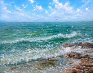 """""""Морское вдохновение"""" холст, масло. Морской пейзаж. Сайт художника Елены Кацевал."""