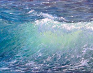 """""""Волна"""" холст, масло. Морской пейзаж. Сайт художника Елены Кацевал."""