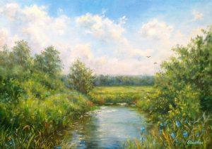 """Ах, лето!"" холст, масло. Пейзаж. Сайт художника Елены Кацевал."