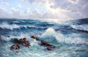 """Музыка волн"" холст, масло. Морской пейзаж. Сайт художника Елены Кацевал."
